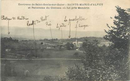 """CPA FRANCE 73 """"Saint Marie d'Alvey et panorama du château"""""""