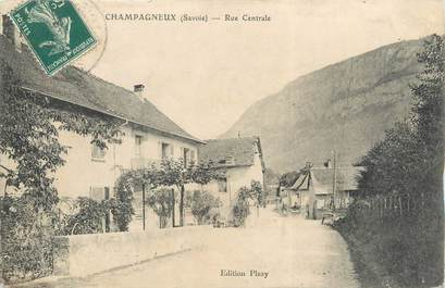 "CPA FRANCE 73 ""Champagneux, rue centrale"""