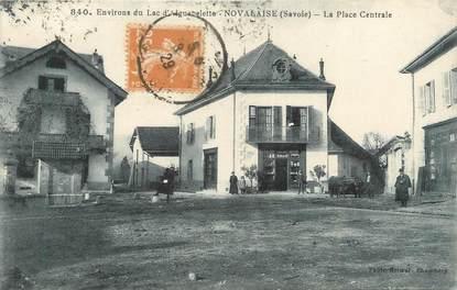 """CPA FRANCE 73 """"Novalaise, la place centrale"""""""
