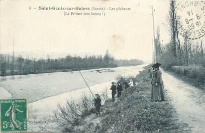 """CPA FRANCE 73 """"Saint Genix sur Guiers, les pêcheurs"""""""