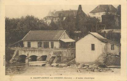 """CPA FRANCE 73 """"Saint Genix sur Guiers, l'usine électrique"""""""