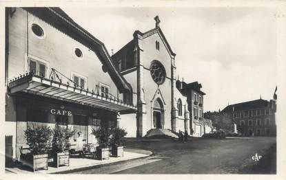 """CPSM FRANCE 73 """"Saint Genix sur Guiers, place de l'église"""""""