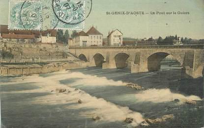 """CPA FRANCE 73 """"Saint Genix d'Aoste, le pont sur le Guiers"""""""