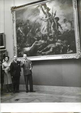 """PHOTO ORIGINALE / PHOTO DE PRESSE / ART """"André Malraux inaugure l'Exposition du Centenaire de DELACROIX"""""""