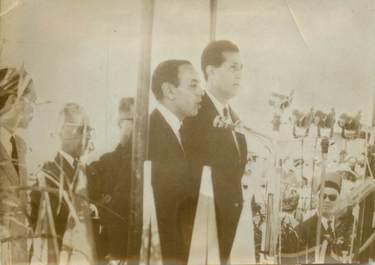 """PHOTO ORIGINALE / PHOTO DE PRESSE / ALGERIE """"FLN, le Roi du Maroc HASSAN II en Algérie"""""""