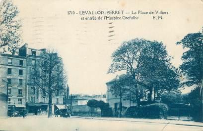 """CPA FRANCE 92 """"Levallois Perret, la place de Villiers et entrée de l'Hospice Grefulhe"""""""