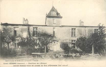 """CPA FRANCE 33 """"Cerons, château de l'Epinay"""""""