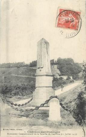 """CPA FRANCE 33 """"Castillon sur Dordogne, monument aux morts"""""""