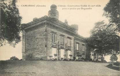 """CPA FRANCE 33 """"Camarsac, le château"""""""