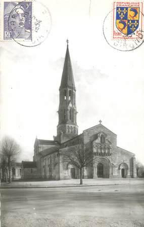 """CPSM FRANCE 33 """"La Brède, l'église"""""""