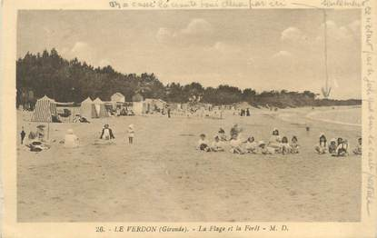 """CPA FRANCE 33 """"Le Verdon, la plage et la forêt"""""""