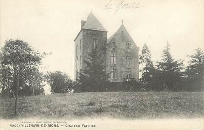 """CPA FRANCE 33 """"Villenave de Rions, château Fauchey"""""""