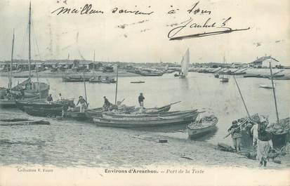 """CPA FRANCE 33 """"Environs d'Arcachon, port de la Teste"""""""