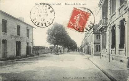 "CPA FRANCE 33 ""Libourne, boulevard de la gare"""