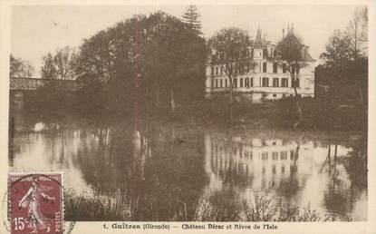 """CPA FRANCE 33 """"Guitres, château Déroc et rives de l'Isle"""""""