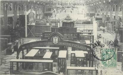 """CPA FRANCE 33 """"Exposition Maritime de Bordeaux, intérieur du grand Palais"""""""