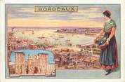 "33 Gironde CPA FRANCE 33 ""Bordeaux"" / CARTE PUBLICITAIRE"