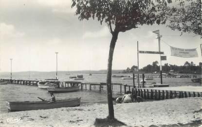 """CPSM FRANCE 33 """"Cazaux, les jetées sur le lac"""""""