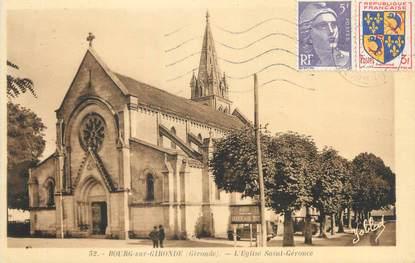 """CPA FRANCE 33 """"Bourg sur Gironde, l'église Saint Géronce"""""""