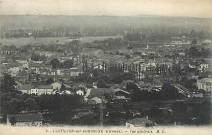 """CPA FRANCE 33 """"Castillon sur Dordogne, vue générale"""""""