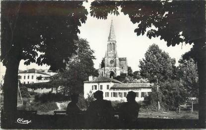 """CPSM FRANCE 40 """"Tartas, l'église vue des allées Marines"""""""
