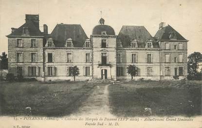 """CPA FRANCE 40 """"Poyanne, château des Marquis de Poyanne"""""""