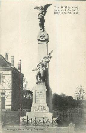 "CPA FRANCE 40 ""Azur, monument aux morts"""
