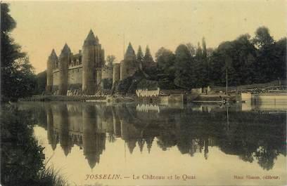 """CPA FRANCE 56 """"Josselin, le château et le quai"""""""