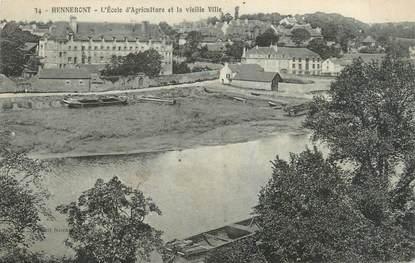 """CPA FRANCE 56 """"Hennebont, l'école d'agriculture et la vieille ville"""""""