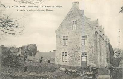 """CPA FRANCE 56 """"Concoret, le château de Comper"""""""