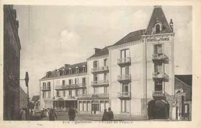 """CPA FRANCE 56 """"Quiberon, l'hôtel de France"""""""