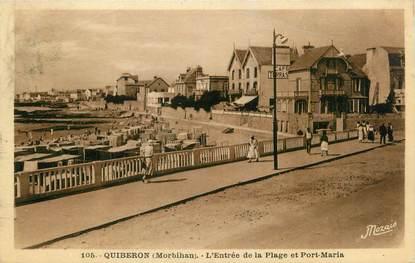 """CPA FRANCE 56 """"Quiberon, l'entrée de la plage et port Maria"""""""