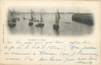 "CPA FRANCE 56 ""Quiberon, port Maria et la plage"""