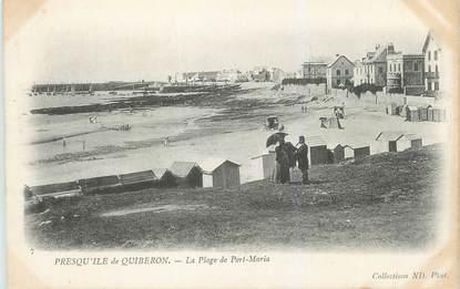 "CPA FRANCE 56 ""Presqu'ile de Quiberon, la plage de Port Maria"""