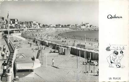 "CPSM FRANCE 56 ""Quiberon, la plage"""