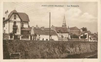"""CPA FRANCE 56 """"Port Louis, les remparts"""""""