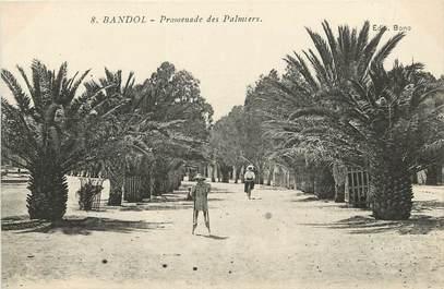 """CPA FRANCE 83 """"Bandol, promenade des Palmiers"""""""