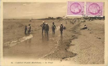 "CPA FRANCE 56 ""Carnac plage,la plage"""