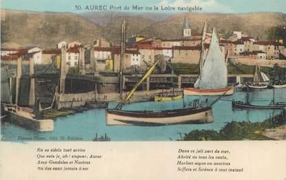 """CPA FRANCE 43 """"Aurec port de mer ou la Loire navigable"""" / SURREALISME"""