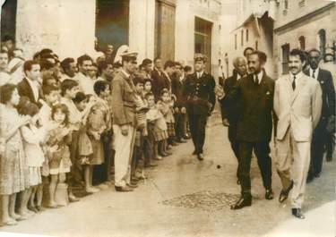 """PHOTO DE PRESSE ORIGINALE / """"L'Empereur d'Ethiopie à Alger"""""""