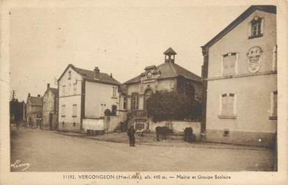 """CPA FRANCE 43 """"Vergongeon, mairie et groupe scolaire"""""""