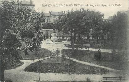 """CPA FRANCE 43 """"Saint Didier La Séauve, le square du Poilu"""""""