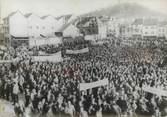 Theme PHOTO DE PRESSE ORIGINALE / Manifestation des mineurs lorrains à Forbach, 1963