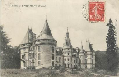 """CPA FRANCE 86 """"Château de Baudiment"""""""