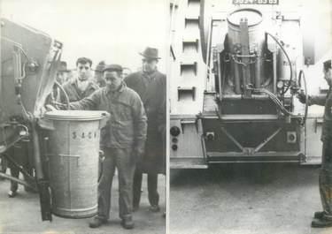 PHOTO DE PRESSE ORIGINALE / ECOLOGIE / ENVIRONNEMENT 1963, France, collecte des détritus ménagers