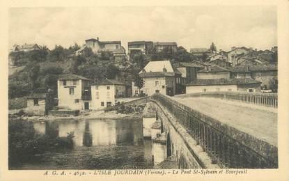 """CPA FRANCE 86 """"L'Isle Jourdain, le pont Saint Sylvain et Bourpeuil """""""