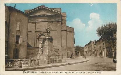 """/ CPA FRANCE 13 """"Eyguières, église et monument, place Thiers"""""""