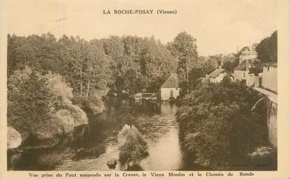 """CPA FRANCE 86 """"La Roche Posay, le vieux moulin et le chemin de Ronde"""""""