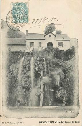 """CPA FRANCE 05 """"Remollon, cascade du moulin"""""""