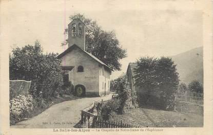 """CPA FRANCE 05 """"La salle Les Alpes, la chapelle de Notre Dame de l'Espérance"""""""